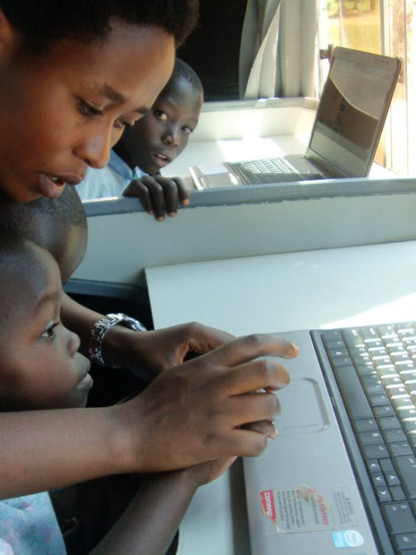 Zambian Children Learning with Laptop