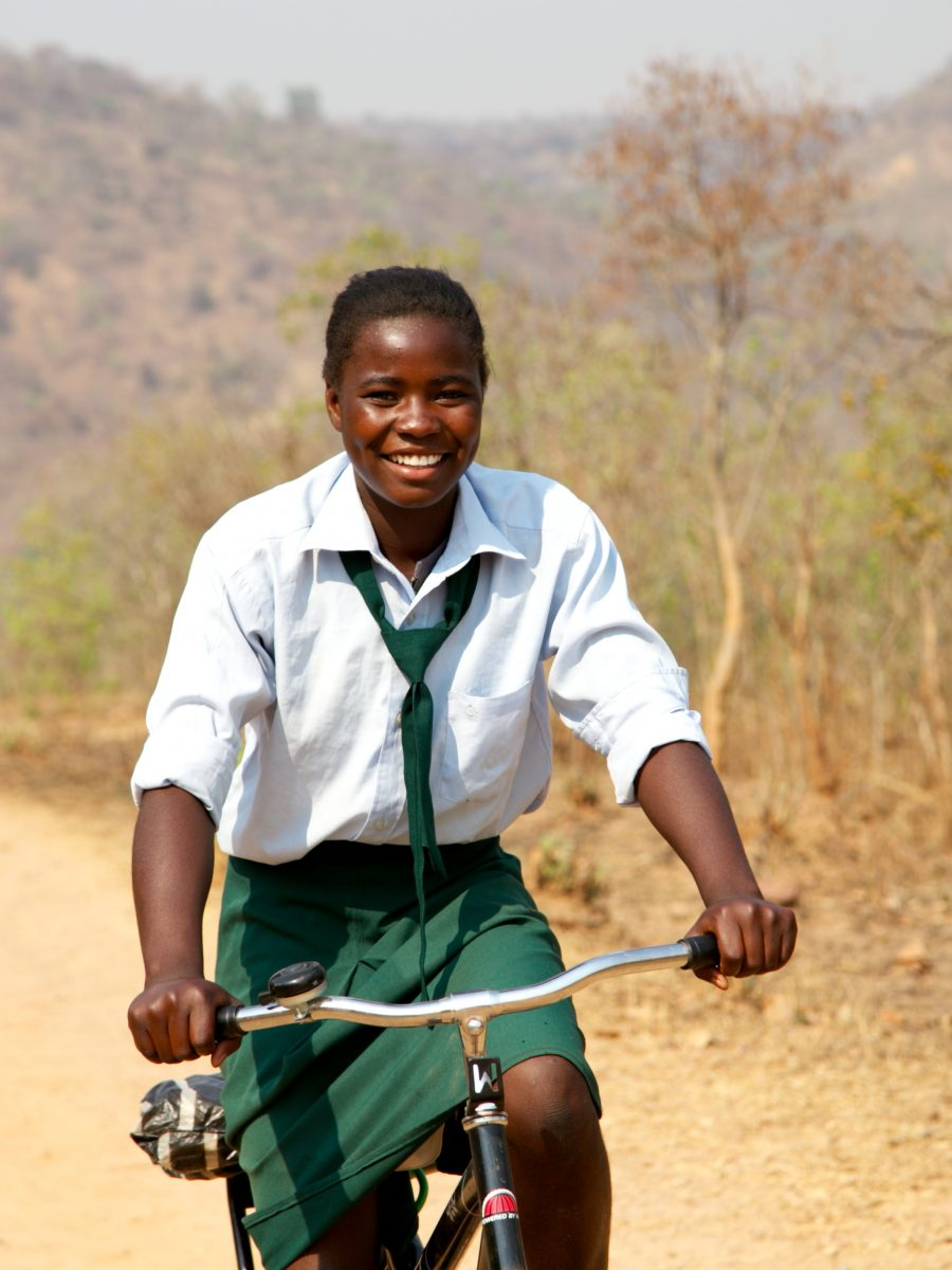 Zambian Girl on Bicycle
