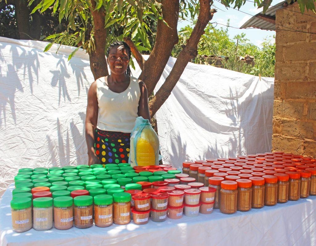 Zambian Woman Selling Peanut Butter