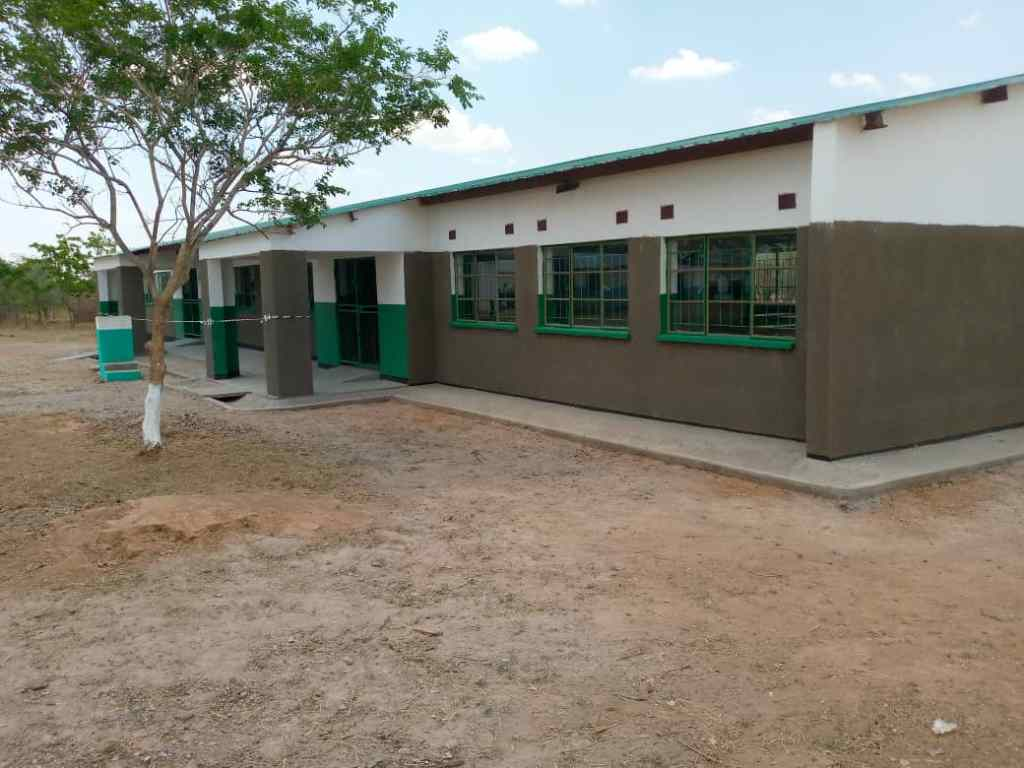 The new classroom block at Simbunji Community School